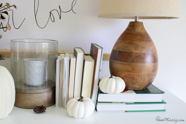 fall decor for buffet table in dining room