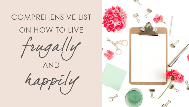 how to live frugally and happily