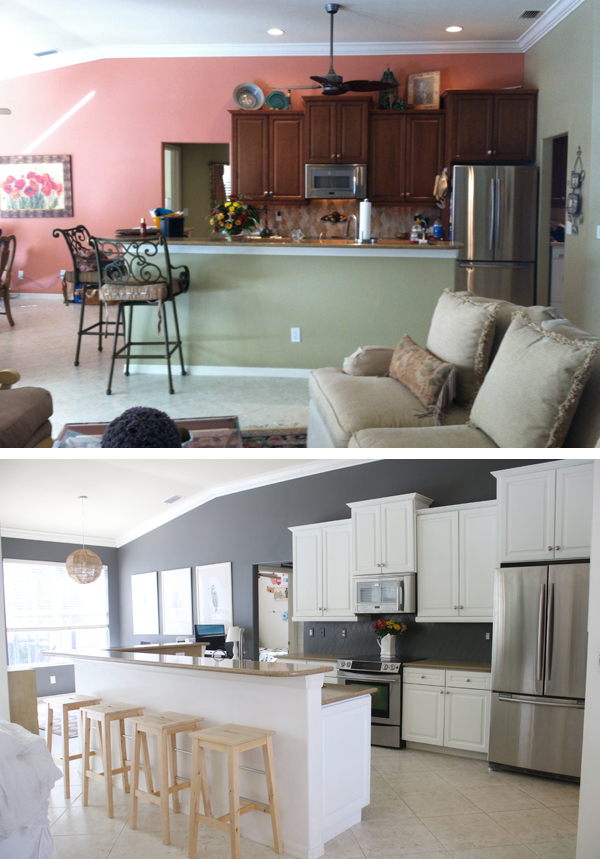 kitchen space makeover with only paint
