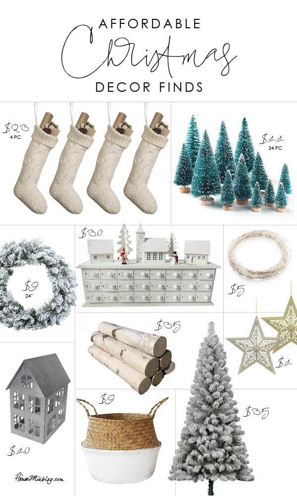 affordable christmas decor finds inexpensive and cheap neutral christmas decorations