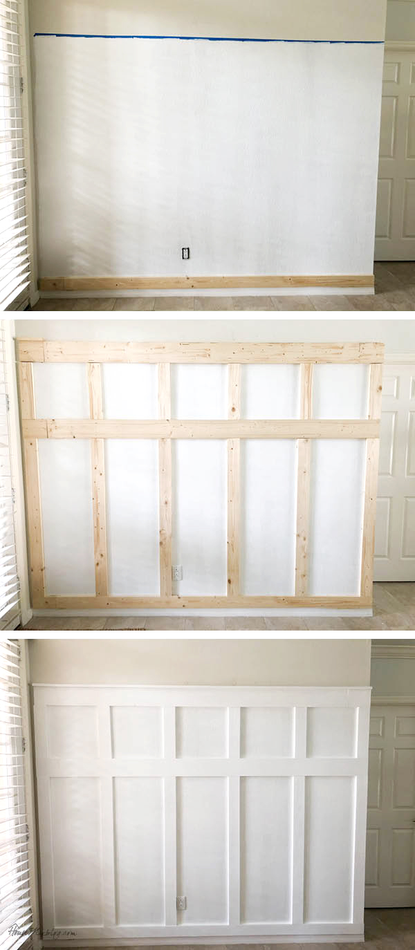 Board and batten wall DIY entryway