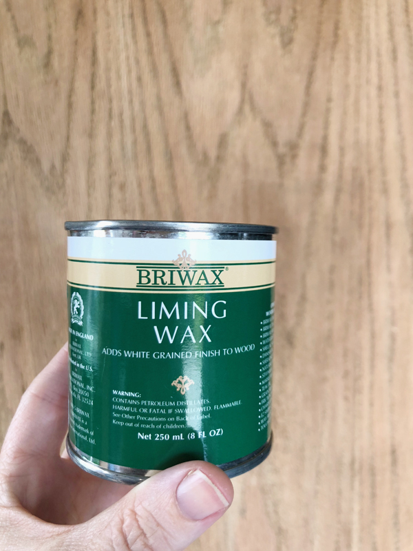 How to get bleached wood or whitewashed look - liming wax