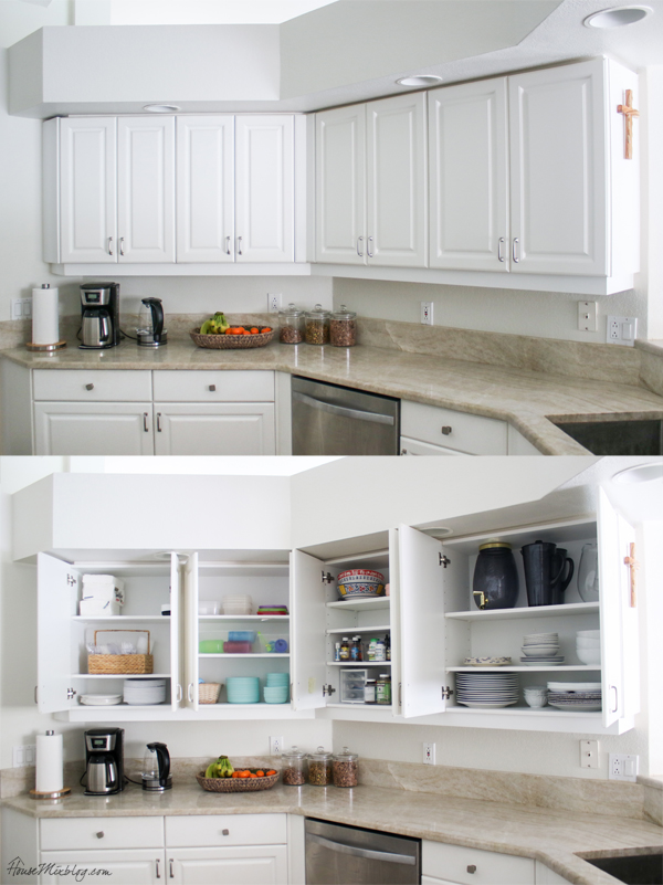 How to organize the kitchen - open cabinets - kitchen tour