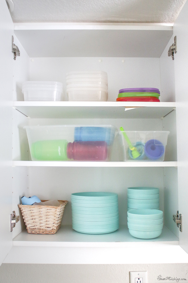 Kid cabinet organization ideas