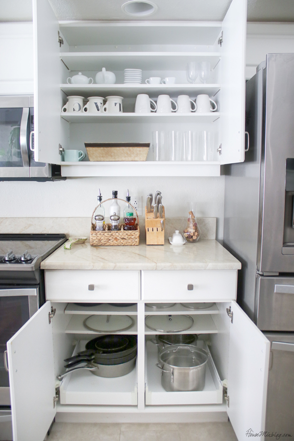 Kitchen organizing ideas - kitchen storage ideas - how to minimize your kitchen