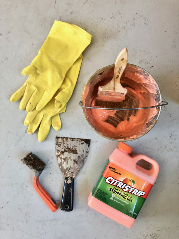 Tools and materials for stripping furniture