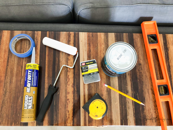 Tools to build a board and batten wall