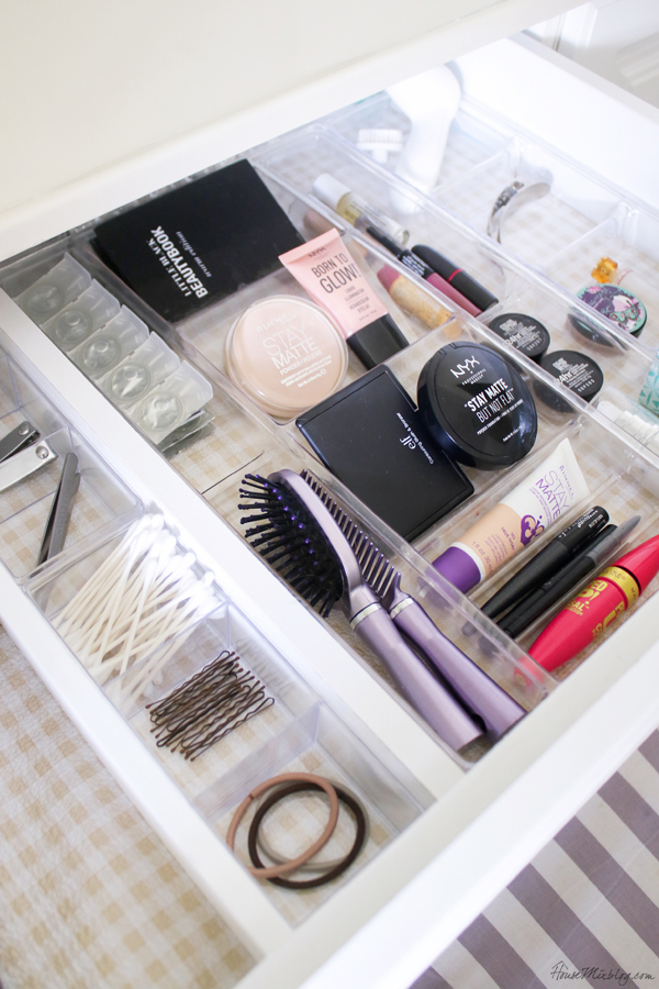 bathroom organization ideas - makeup and hair drawers