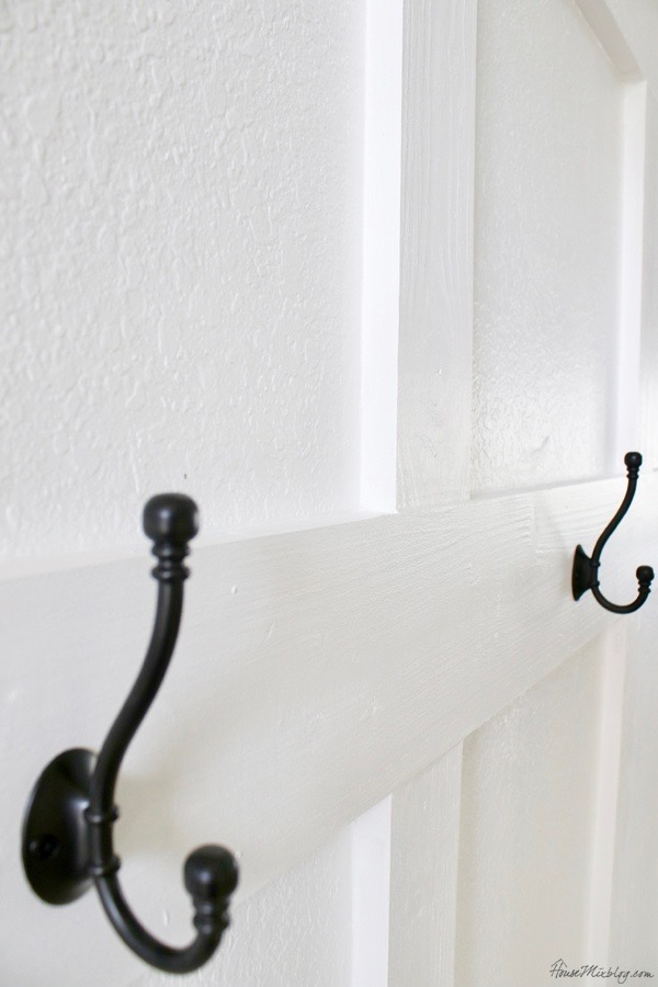 black hooks for mudroom or entryway