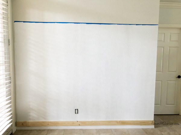 board and batten wall - paint the wall first to save time later