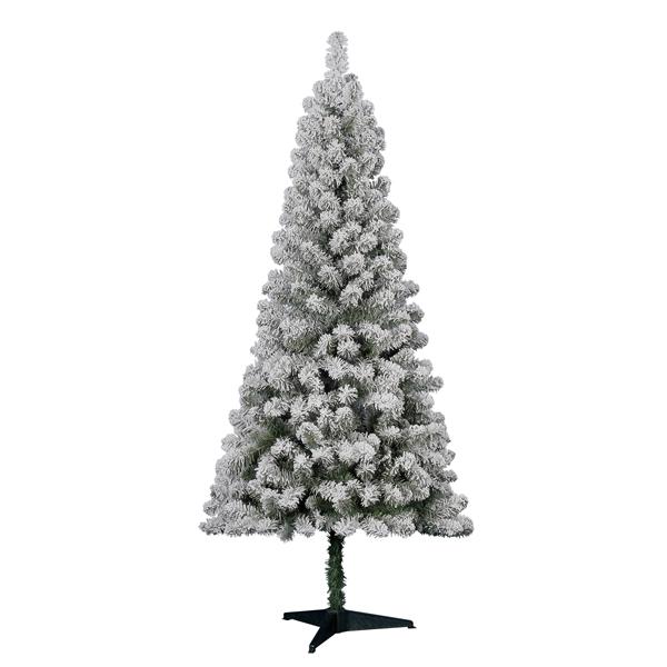 cheap flocked Christmas tree