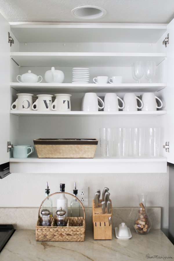 cup and mug kitchen organization