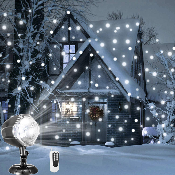 falling snow projector - affordable Christmas decorations