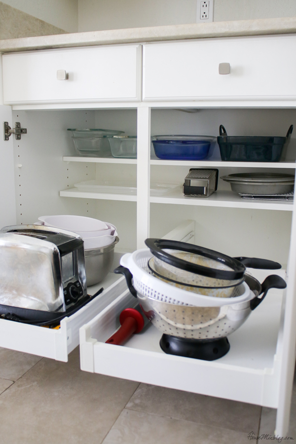 kitchen storage ideas - cabinet drawers