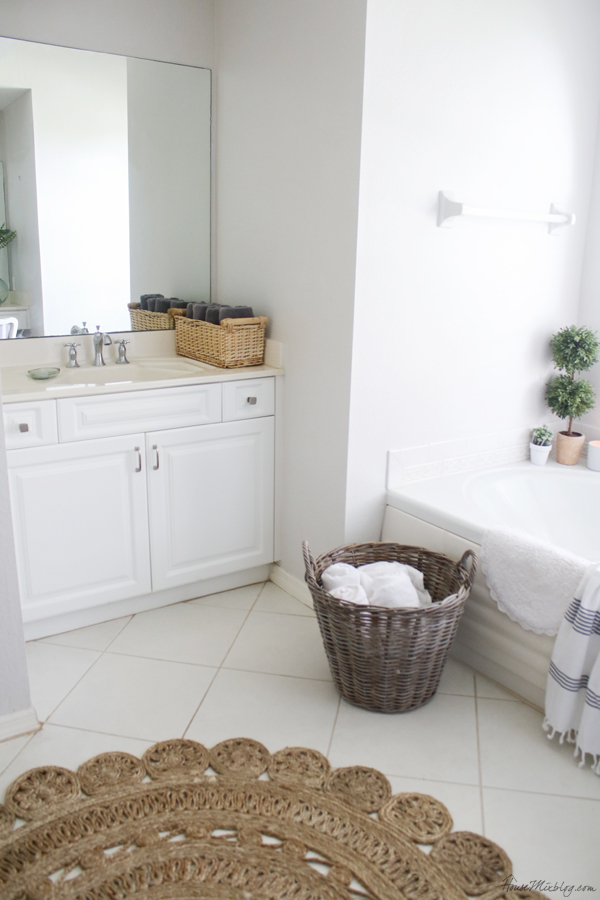 master bath organizing - the man's side
