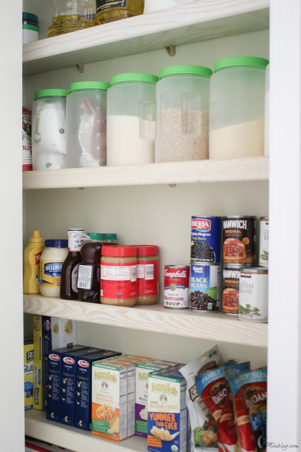 pantry organization - canisters from the dollar store