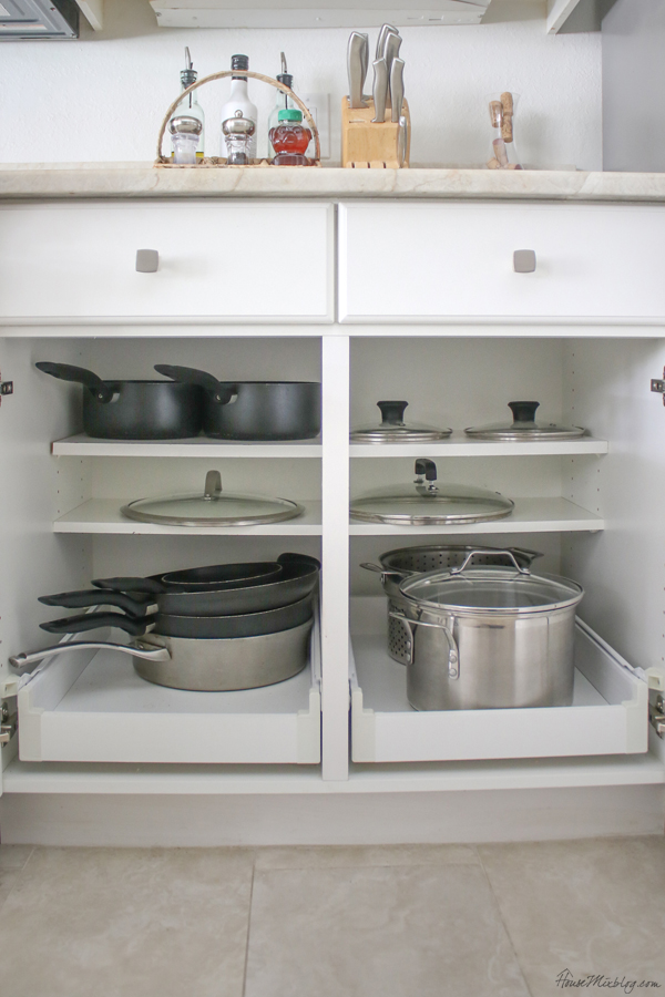 pots and pans kitchen organization