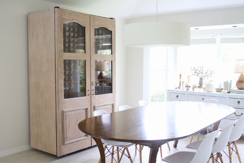 wine cooler rustic bleached wood makeover