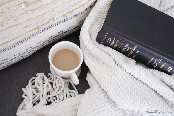 A book and coffee
