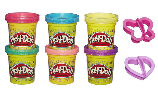 best toddler toys for girls - glitter play doh