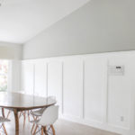 DIY board and batten wall with shelf ledge (no power tools!)