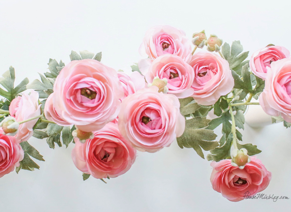 Faux pink tea roses from Hobby Lobby