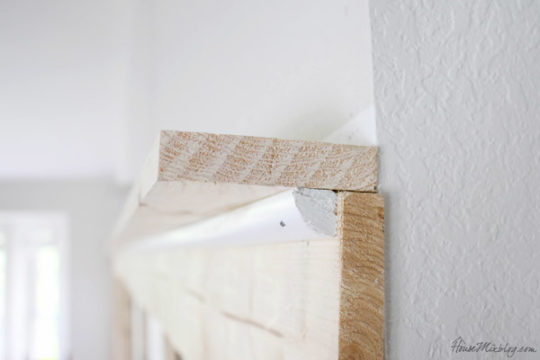 How to add a shelf and moulding to a board and batten wall