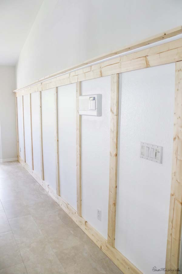 How to put up a board and batten wall without power tools - $100 project