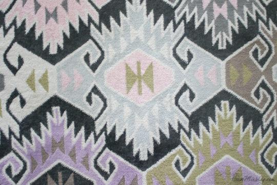 Novagratz indoor outdoor rug - gray brown purple pink aztec pring