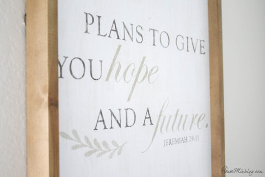 Scripture sign - plans to give you a hope a future