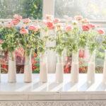 DIY pink dip dyed dollar store vases