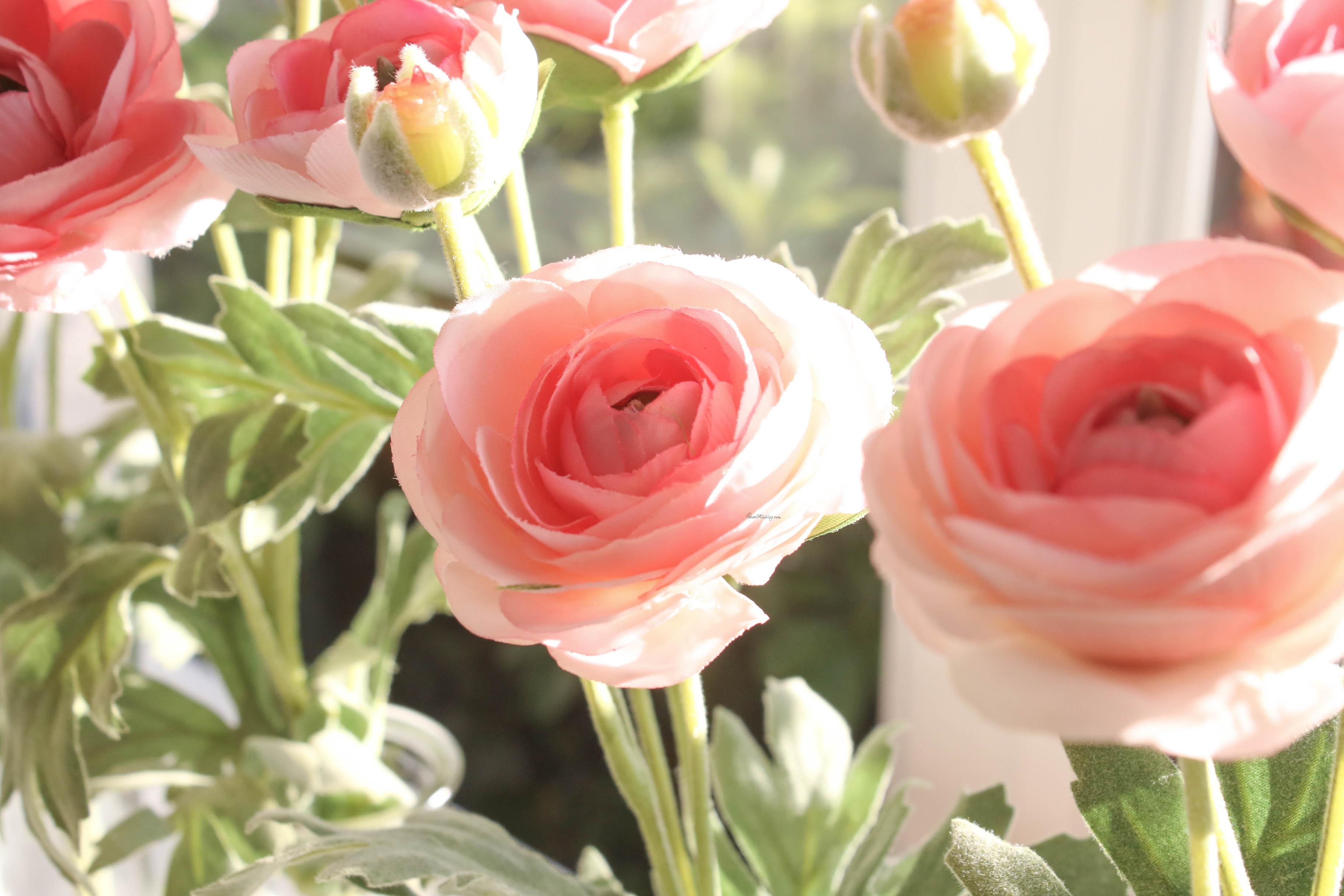 faux tea roses