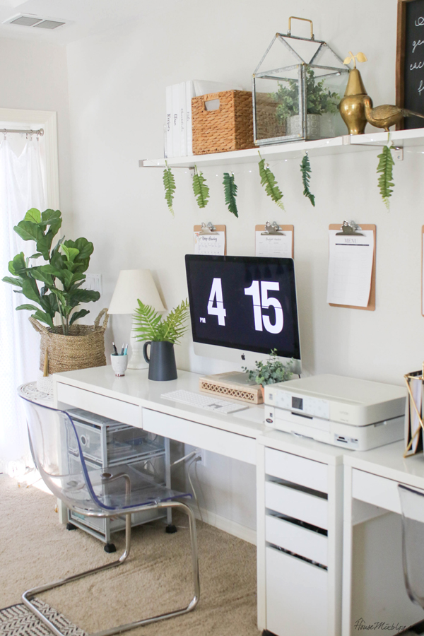 home office design - ikea furniture and shelves