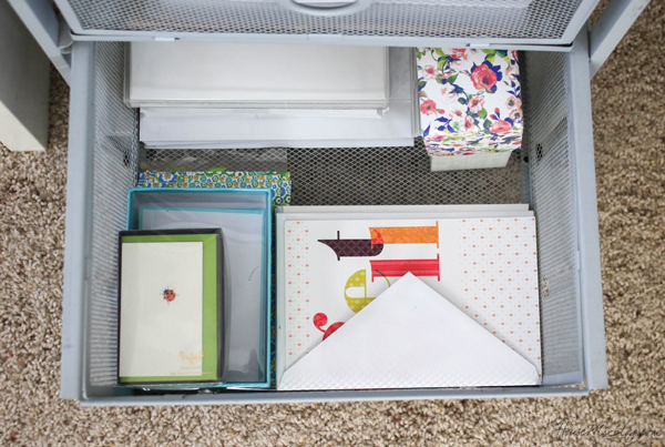 home office organization - keep cards for various occasions on hand