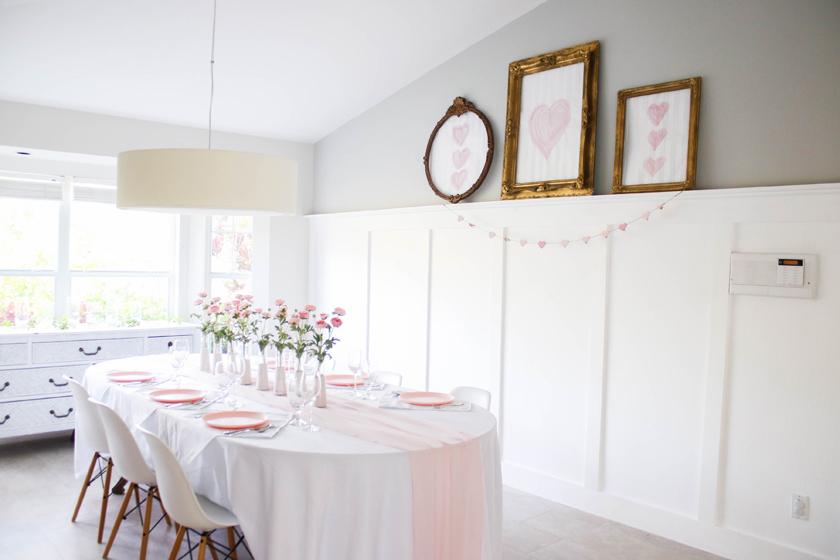inexpensive valentine's day decor