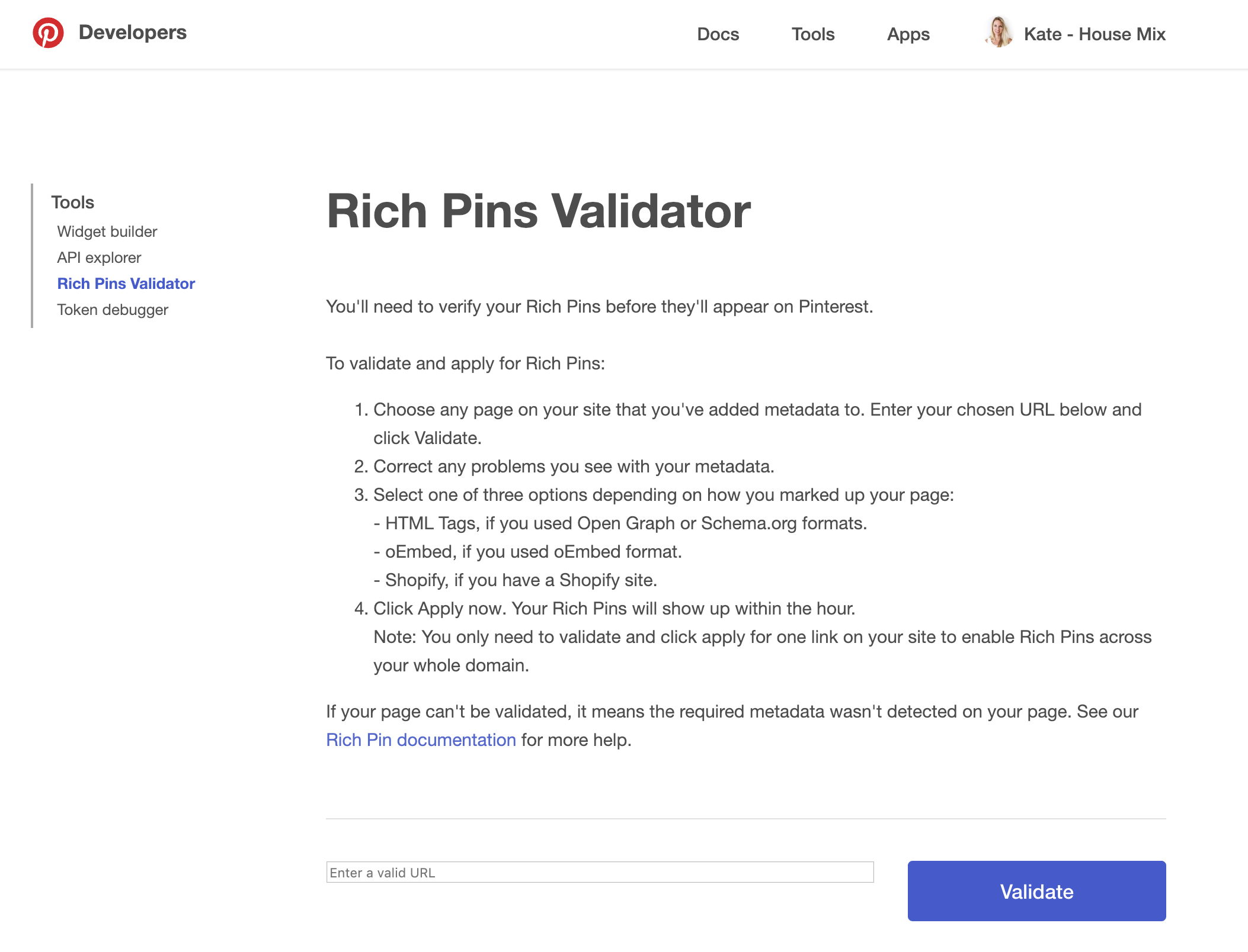 Pinterest tool to find out exactly how many pins your post has received
