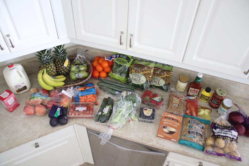 Shopping organic at Trader Joes