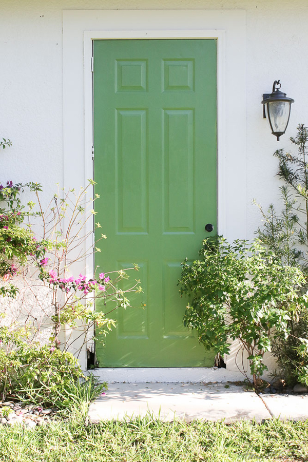 Bright green door color