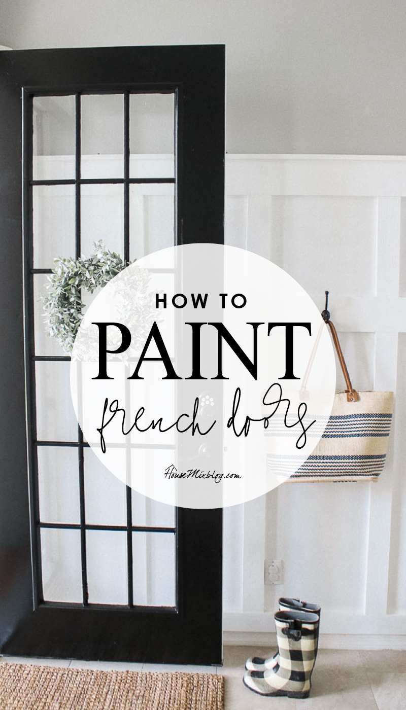 How to paint french doors black - DIY paint the front door
