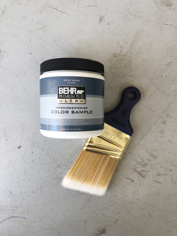 Sample size for exterior and interior - 7 dollars from Home Depot