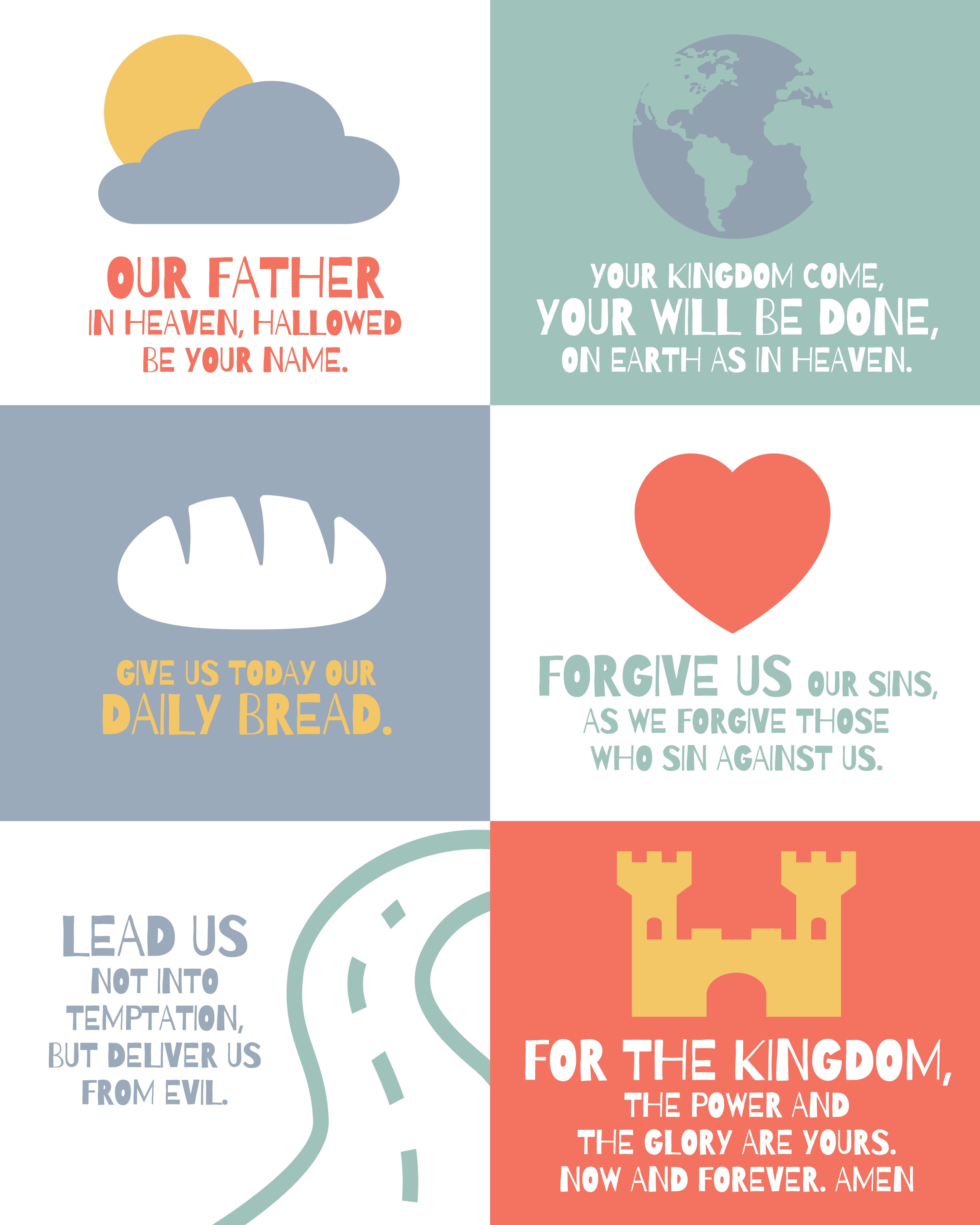 Large Lord's Prayer posters for kids | House Mix