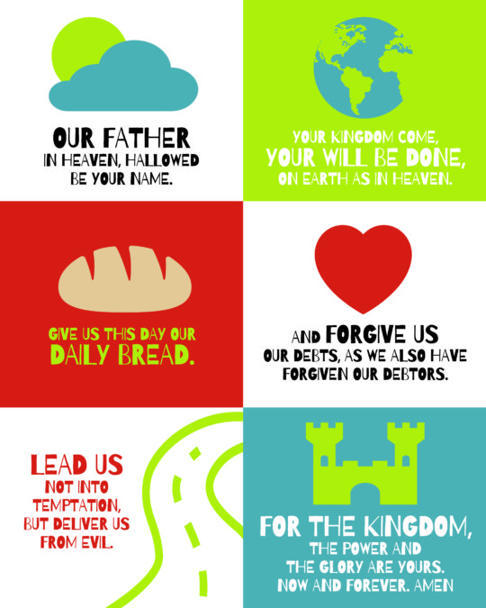 The Lords prayer for kids 2018 ESV - red2