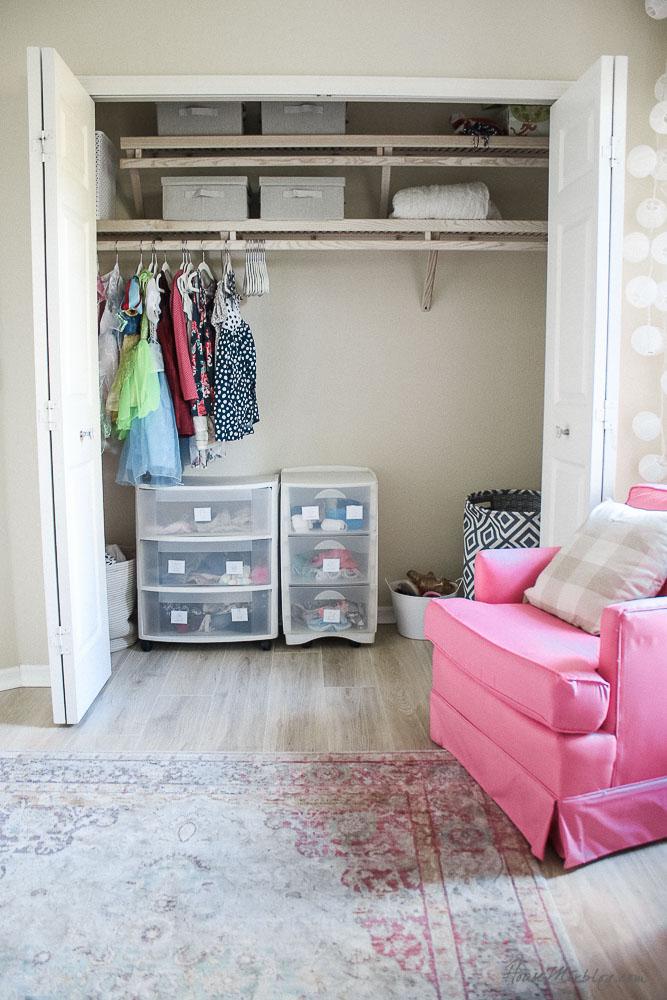 Little girls closet organization