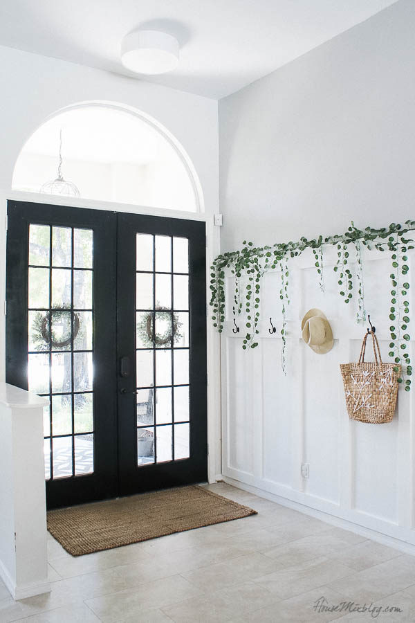 Painting French doors black without scraping glass or taping off