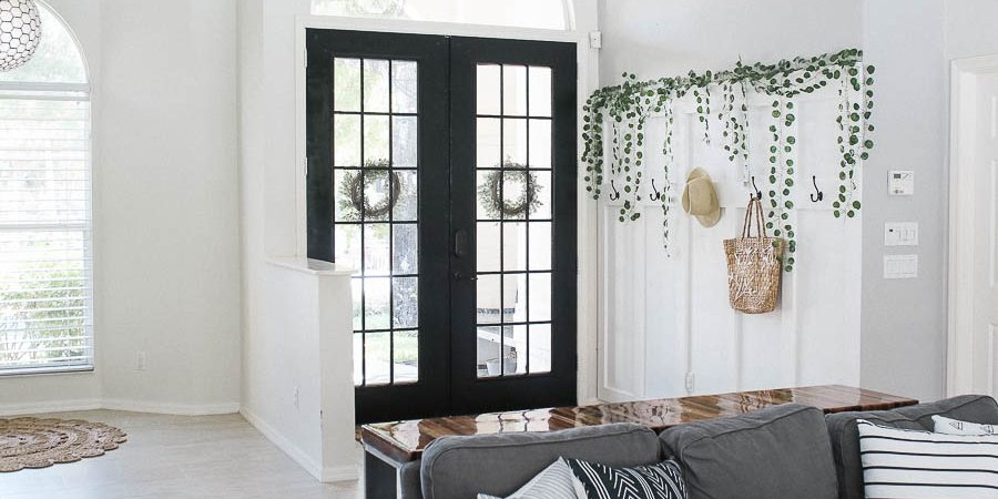 Painting French doors black-8