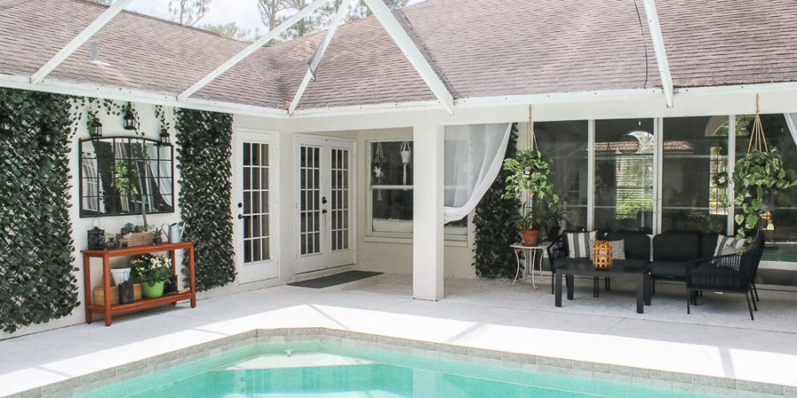 Patio, pool and lanai decor ideas on a budget-outdoor patio layout and greenery