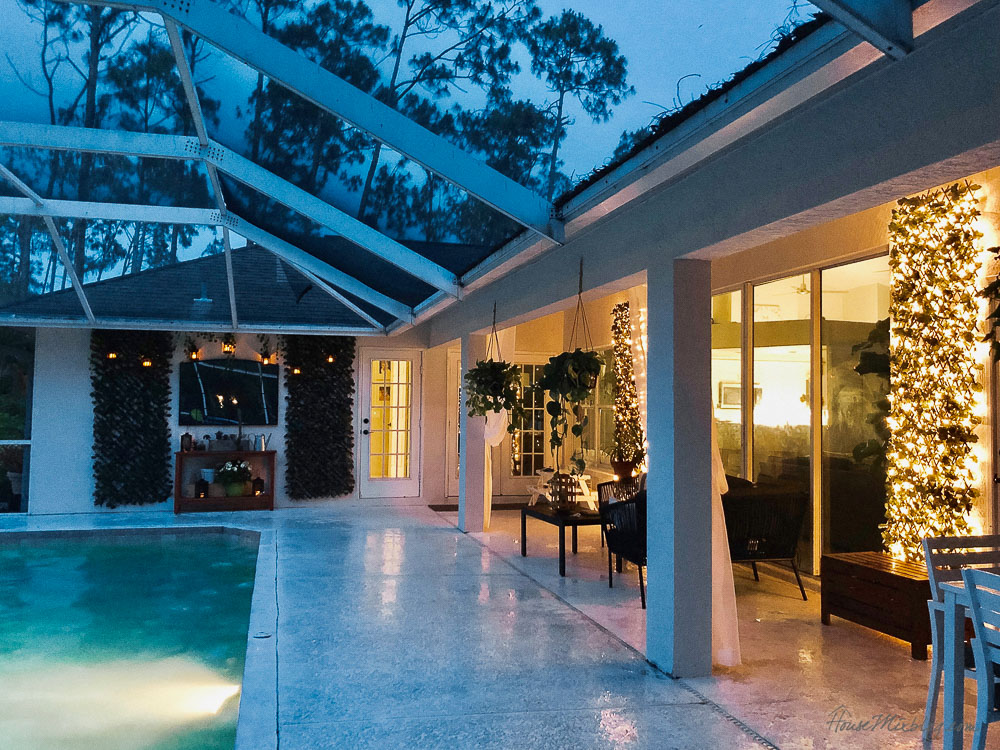 Blank patio turned plant filled retreat house mix - Pool ideas on a budget ...