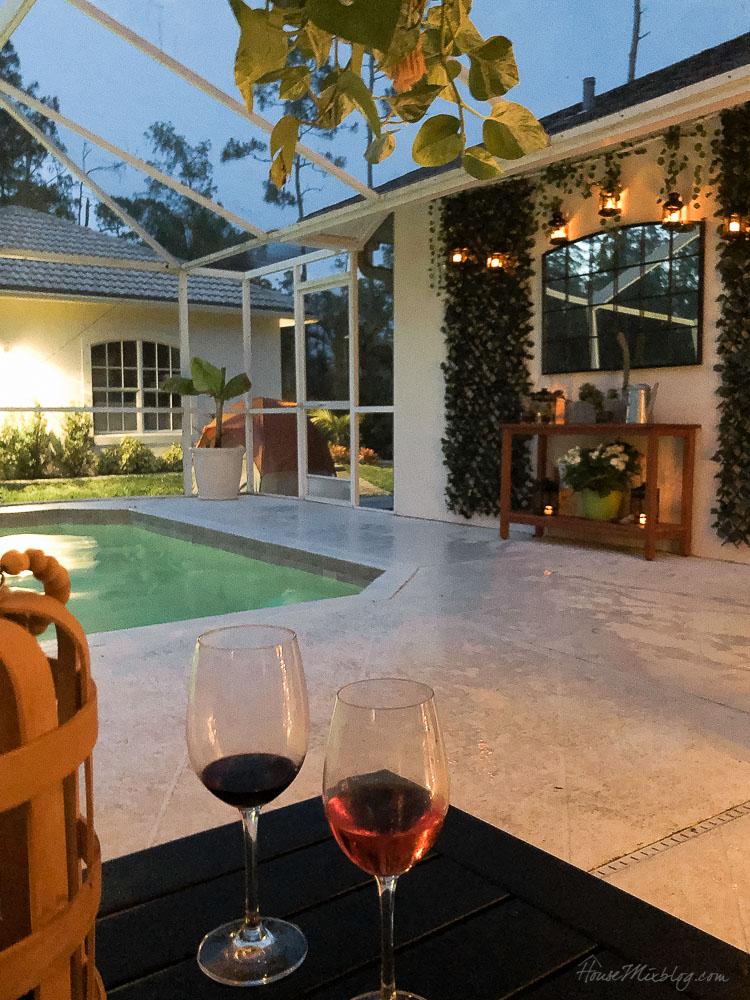 Patio, pool and lanai decor ideas on a budget-patio at night