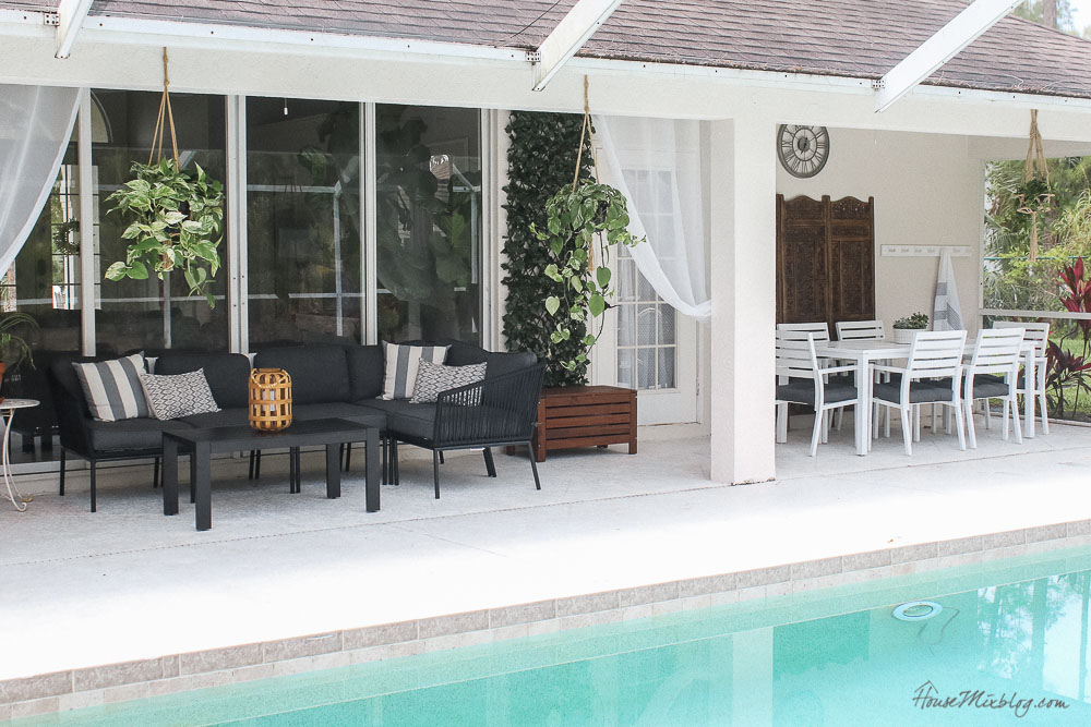Patio, pool and lanai decor ideas on a budget-patio furniture layout