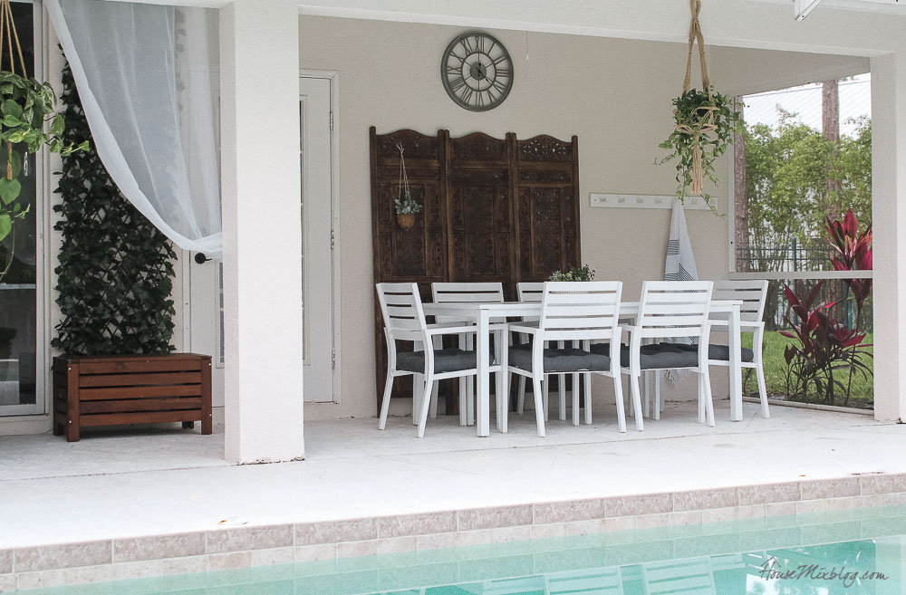 Patio, pool and lanai decor ideas on a budget-small patio layout design